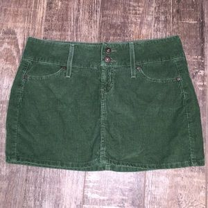 Lei Army Green Corduroy Mini Skirt SIZE 9
